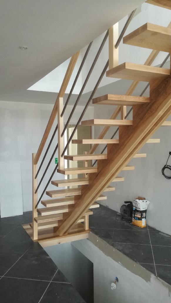 escalier en bois sur mesure meylan